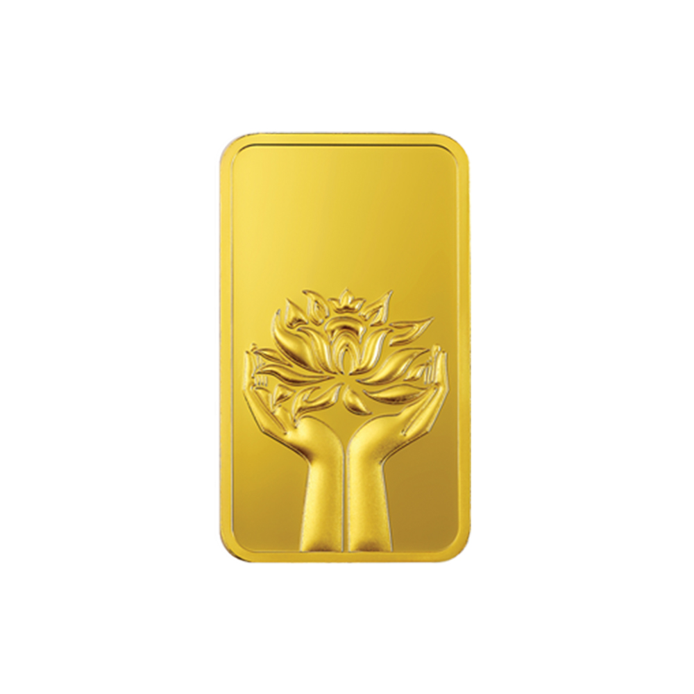 5 Grams 999 Purity Lotus Floral MMTC PAMP Yellow Gold Coin-MMTC05RT MMTC05RT-1.jpg