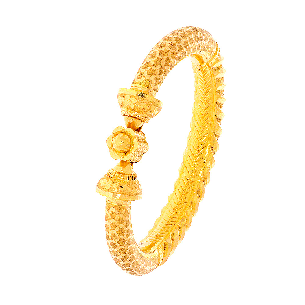 Gold Traditional Textured Engraved Gold Openable Kada (Set Of Two) CHU1495-1_2.jpg