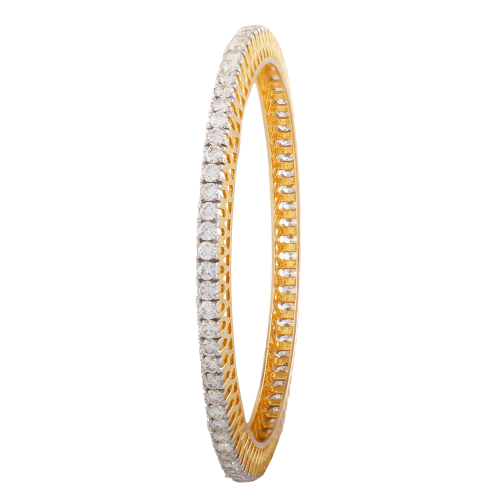 Glittering Pacheli Design Eternity Diamond Bangle- DBG19