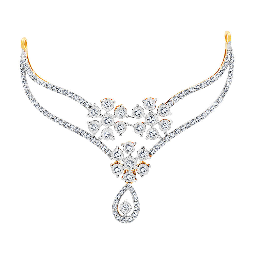 Ravishing Floral Diamond Tanmaniya