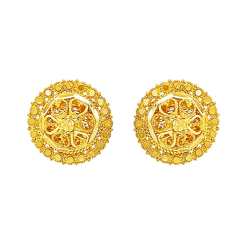 Classic Textured Gold Earrings