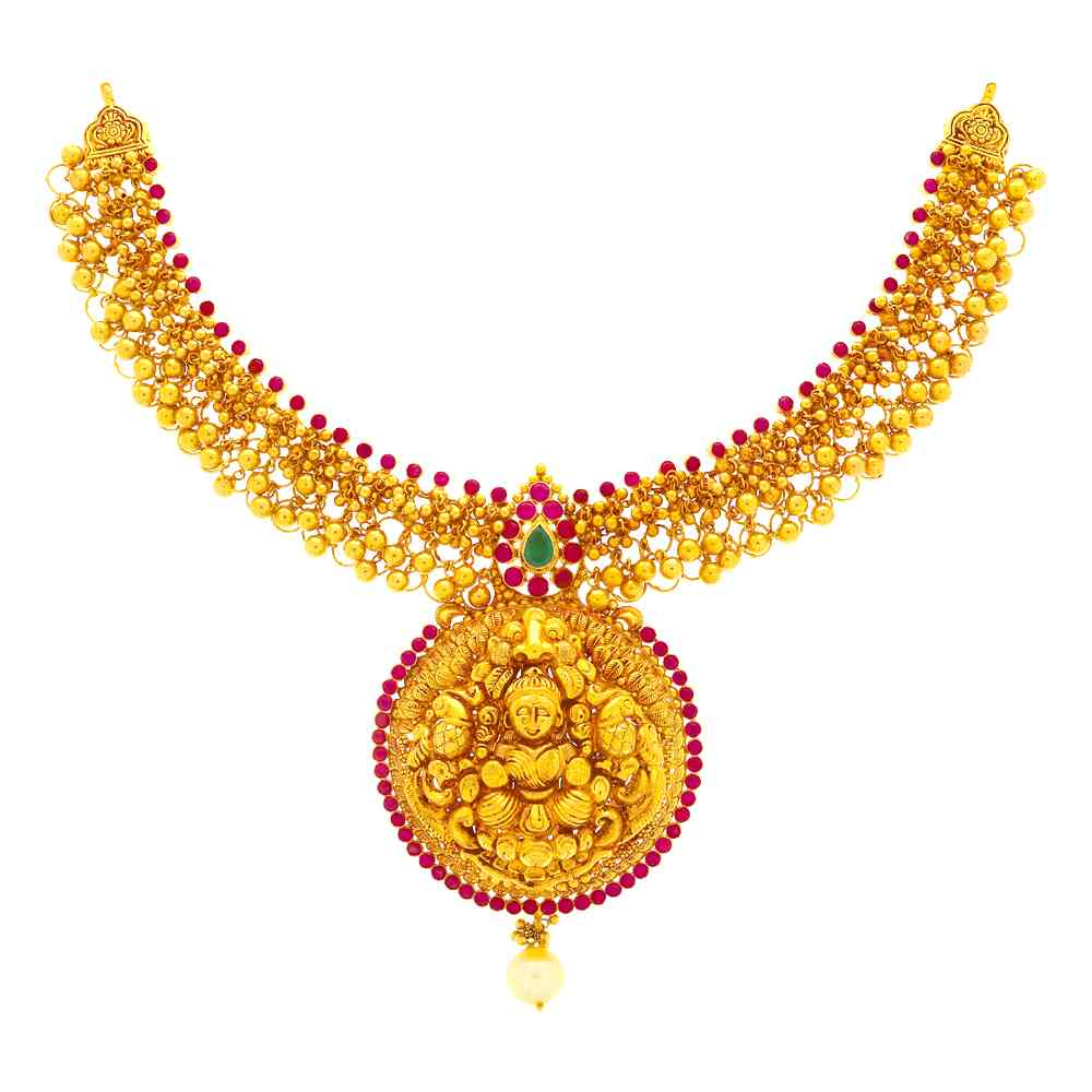 Temple Necklace Enchanting Gold Necklace GN3326-2.jpg