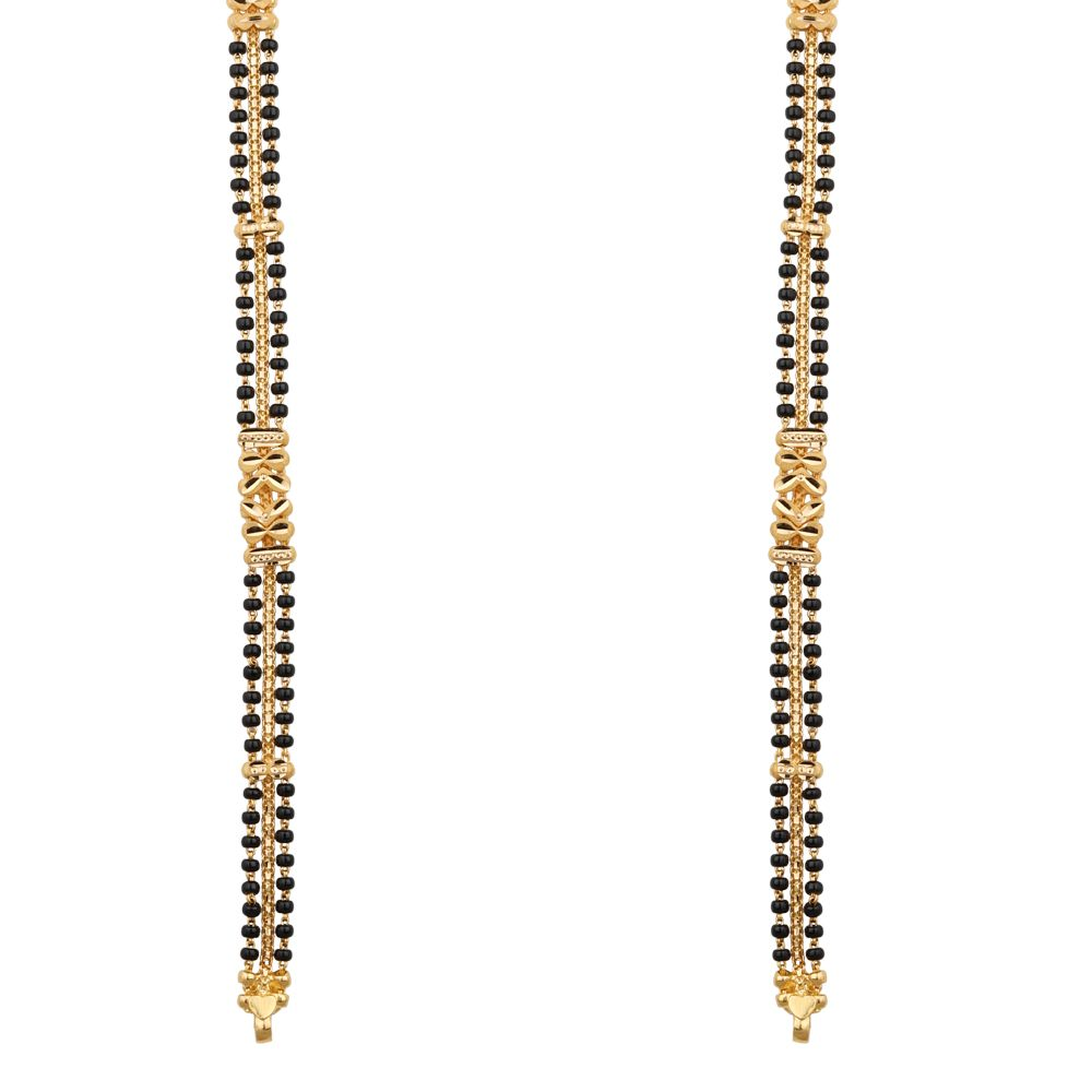 Gold Both Side Beads and Centre Chain Design Gold Mangalsutra Chain-MS22-220 MS22-220_1.jpg