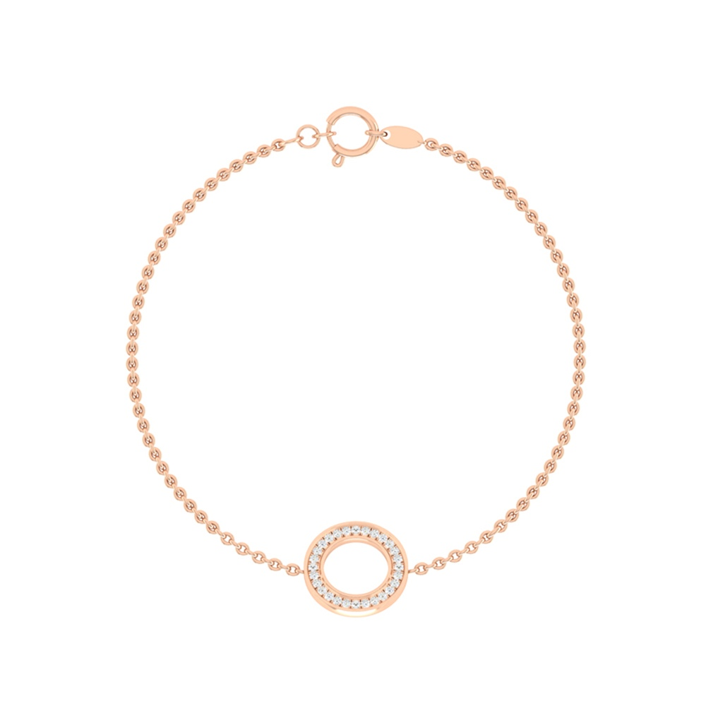Sparkling Shimmering Circle Design Diamond Bracelet