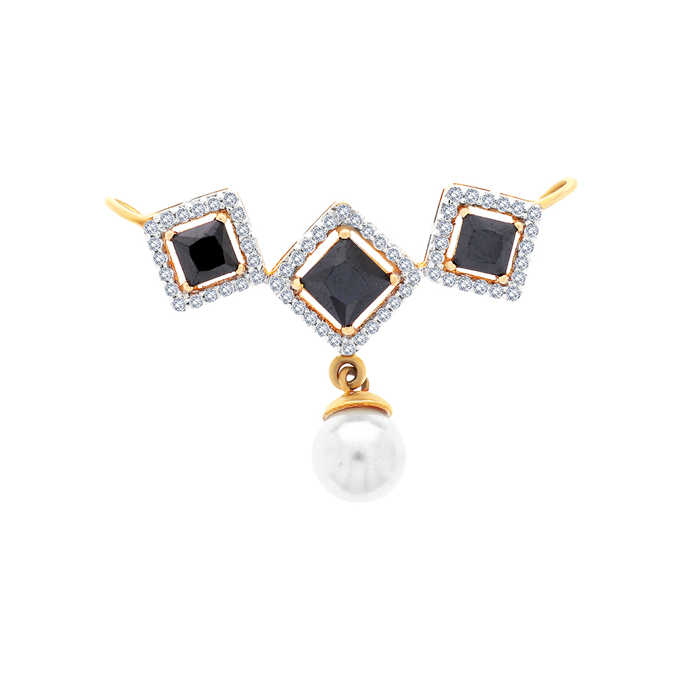 Elegant Framing Gemstone CZ Gold Tanmaniya