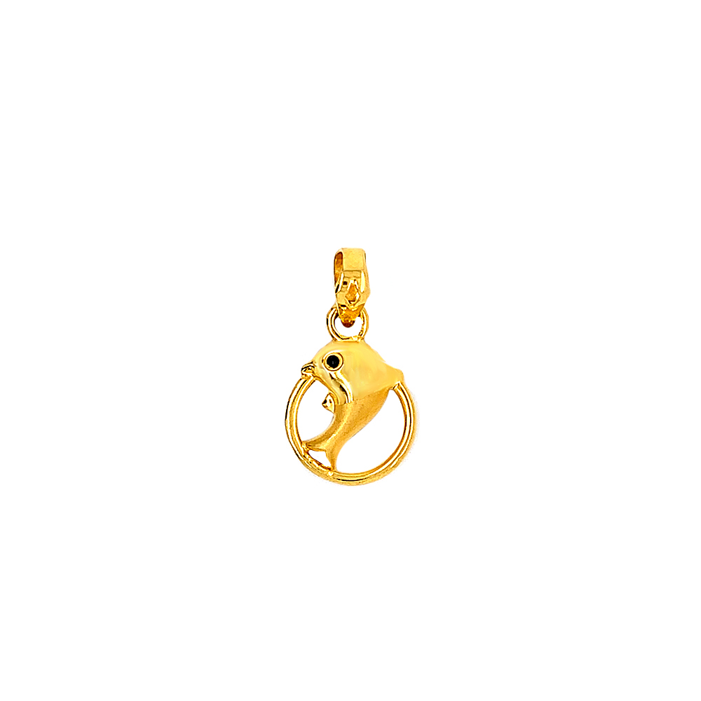 Dainty Dolphine Gold Pendant