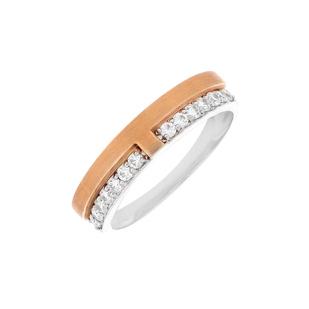 Platinum Swarovski Diamond Wedding Band For Him