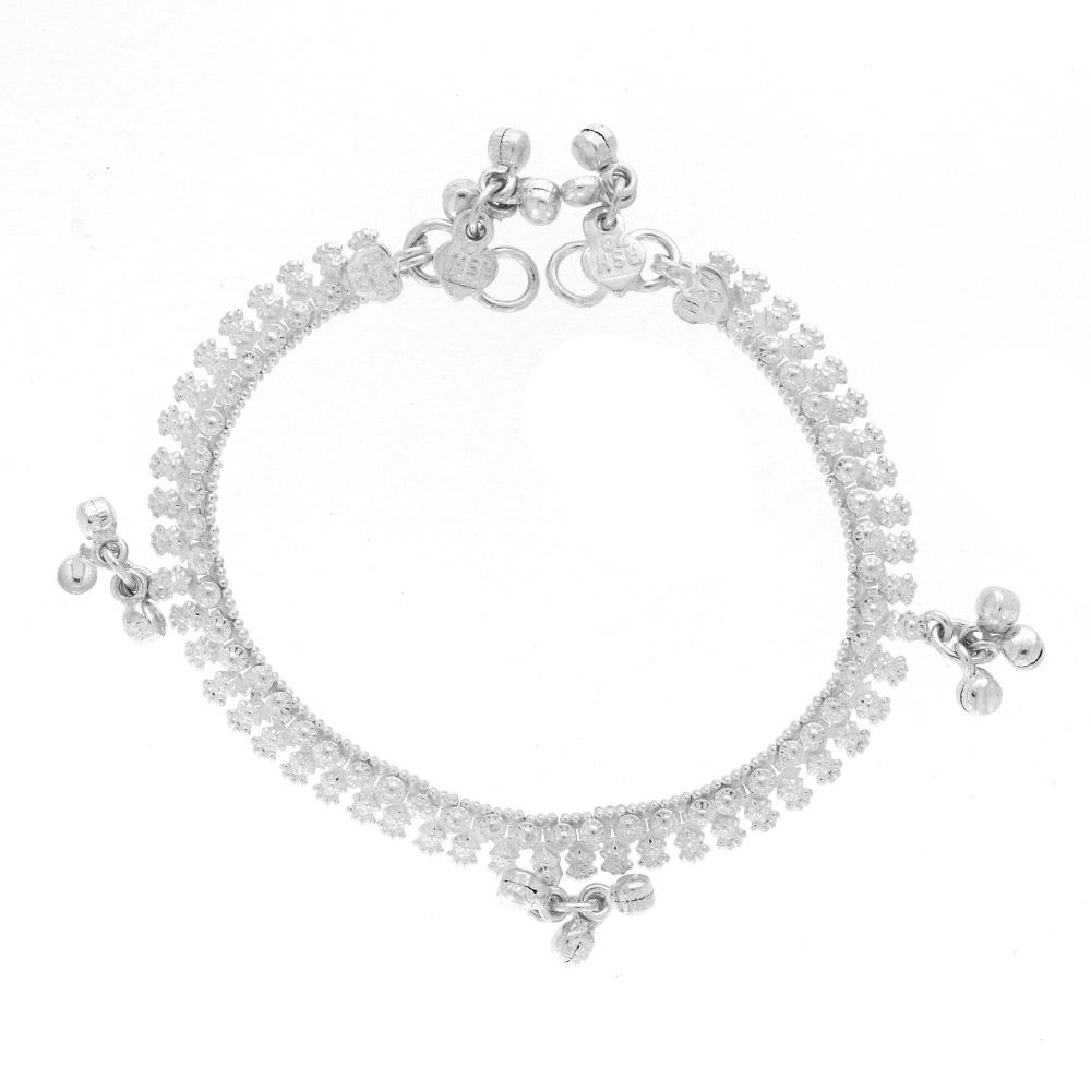 Silver Glossy Finish Embossed Design Baby Silver Anklet Payal10-1_2.jpg