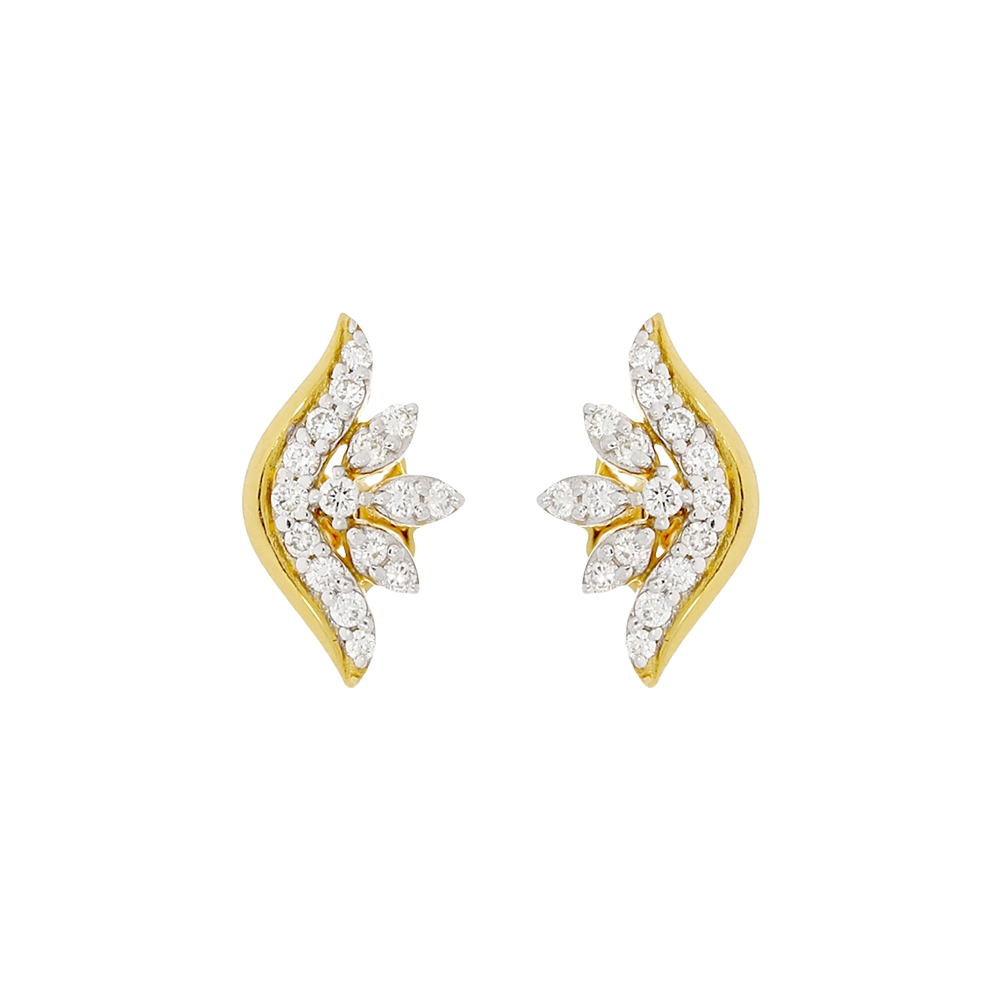 Elegant Floral Delight Diamond Earrings