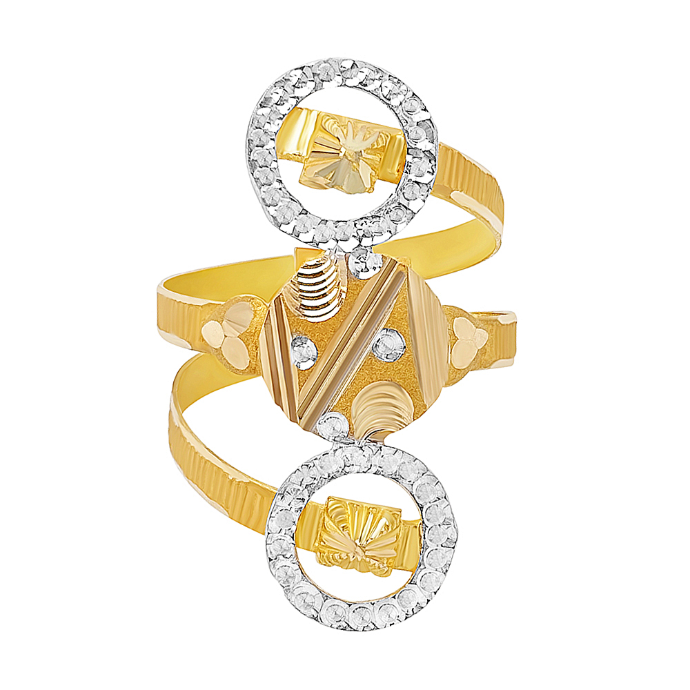 Gold Traditional Spiral Textured Gold Ring RG2851-1.jpg