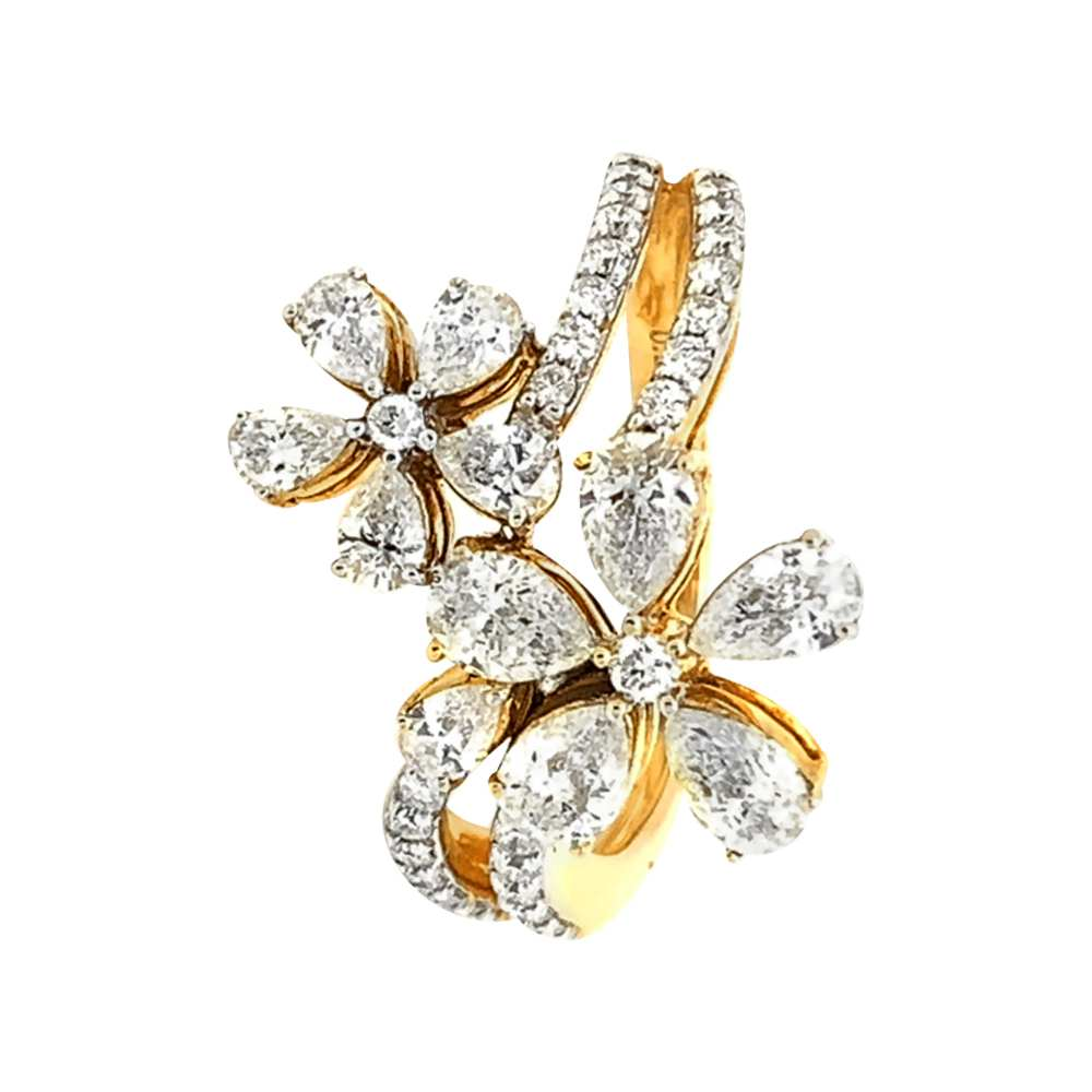 Blossom Cocktail Design Diamond Ring