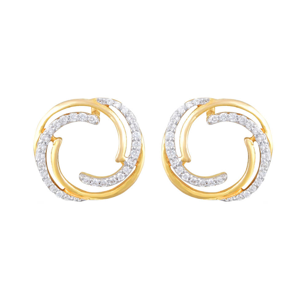 Dazzel Glossy Circular Design Diamond Earring