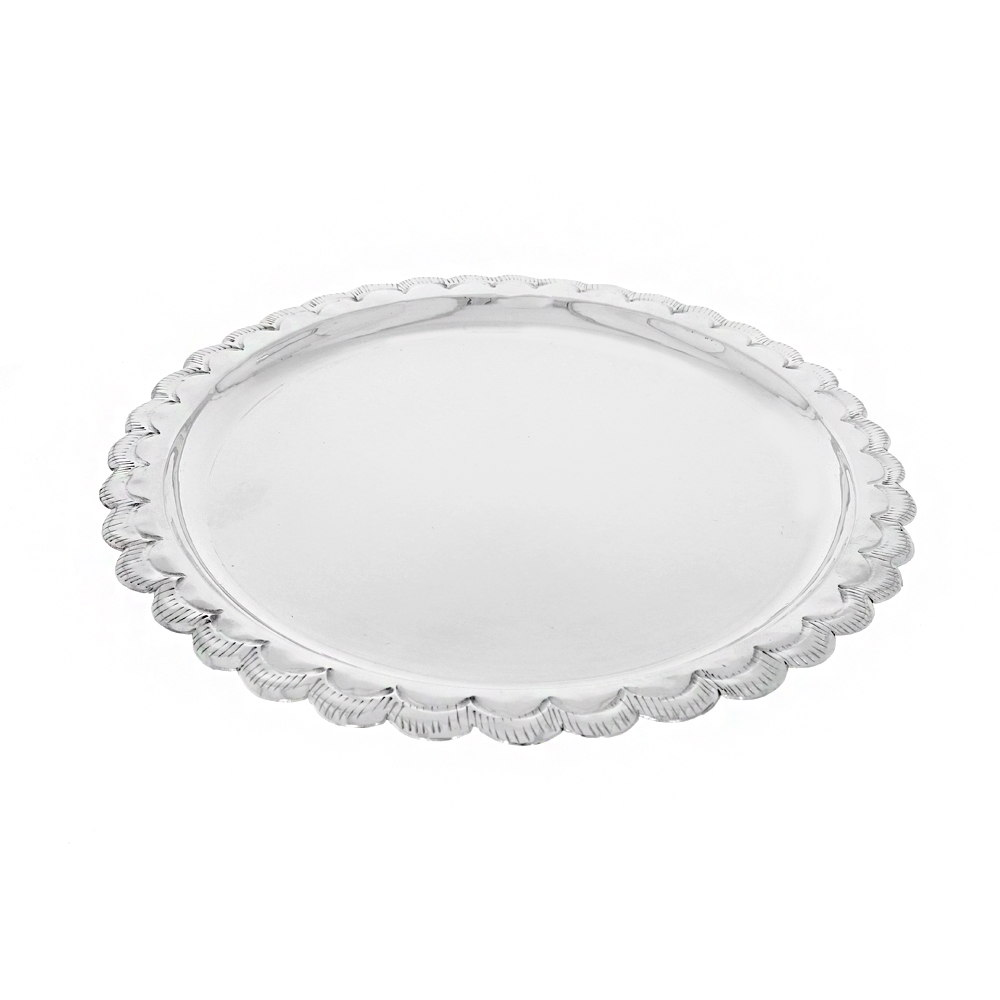 Silver 83.5 Oval Plate with Designer Border Artifact