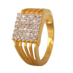 Cluster CZ Mens Ring - 11682