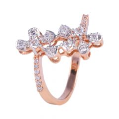 18kt Rose Gold Prong Set Diamond Ring - 117-A11730