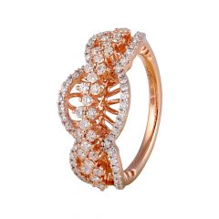 Filigree Design Cluster Sparkling Diamond Ring - 117-A12417