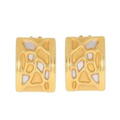Contemporary Design With Rhodium Polish Gold Earrings -13-A2653