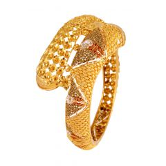 Meenakari Cluster Floral Filigree Openable Bangle - 140-105724