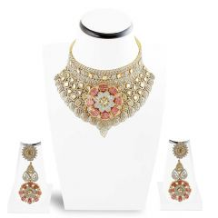 Diamond Necklace set , Sets -DHS881