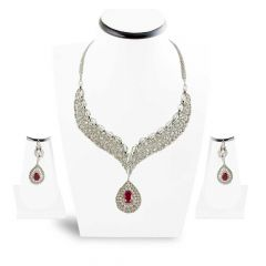 Diamond Necklace set , Sets -DHS916