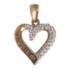 Diamond Heart , Pendants -B407