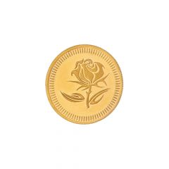 5 Grams 22Kt (916) Purity Rose Floral Gold Coin-JPAUG-17-070-22-5