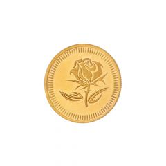 2 Grams 24Kt (999) Purity Rose Floral Gold Coin-JPAUG-17-070-24-2