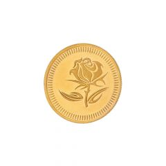 5 Grams 24Kt (999) Purity Rose Floral Gold Coin-JPAUG-17-070-24-5