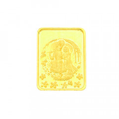 10 Grams 24kt (999) Purity Radha Krishna Gold Coin-JPSEP-18-383-10