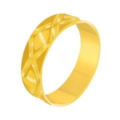 Classy Textured Gold Band