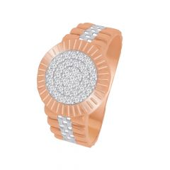 Delicate Cluster CZ Gold Ring For Him