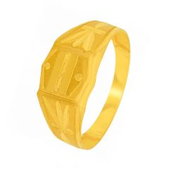 Traditional Textured Gold Ring For Him