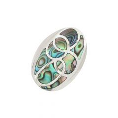Fancy Mother of Pearl Gemstone Silver Ring-S-RNG1041-3322