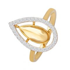 Sparkling Cluster Drop 18kt Yellow Gold Diamond Ring