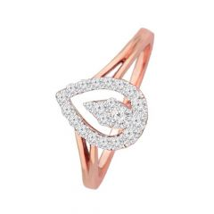 Glittering Cluster Drop Daily Wear 14kt Rose Gold Diamond Ring -DM007RNGR6983