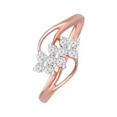 Glittering Cluster Daily Wear 14kt Rose Gold Ring -DM008RNGAR016286
