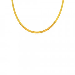 Traditional Flat Kamal Daily Wear Yellow Gold 22kt Chain For Men -145-CHN9562
