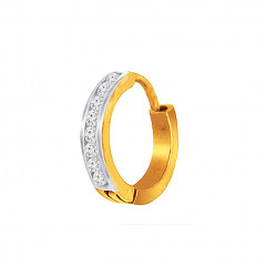 Elegant Daily Wear Yellow Gold 18kt Nose Pin -145-DNP751