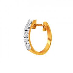Glittering Daily Wear Yellow Gold 18kt Nose Pin -145-DNP806