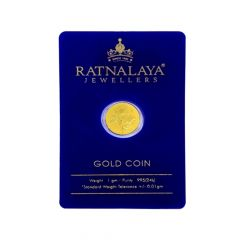 1 Grams 995 Purity Floral Gifting Gold Coin-GC151