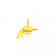 Unique Textured Gun Infant Gold Pendant -LKT134
