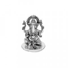 925 Purity Lord Ganesha Silver Idol Artifact -145-MRT475
