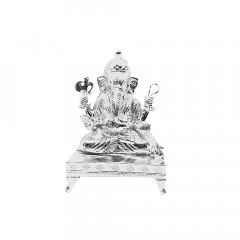 925 Purity Lord Ganesh Silver Idol Artifact -145-MRT572