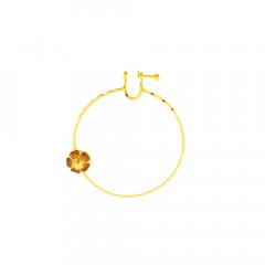 Traditional Enamel Floral Wedding Yellow Gold 22kt Nose Pin-145-NTH509