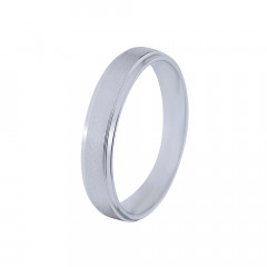 Elegant Textured Platinum Band -PB82