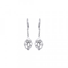 Delicate Textured Cutout Contemporary Daily Wear Silver 925 Earrings -145-SER10