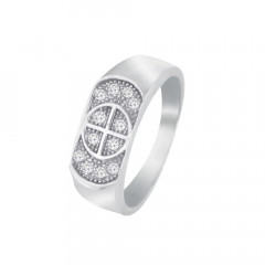 Delicate CZ Contemporary Daily Wear 925 Silver Ring For Him -145-SRG333