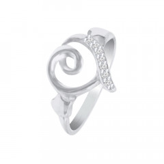 Delicate Heart CZ Daily Wear 925 Silver Ring -145-SRG337