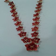 850 Purity 95.1 Gms Silver Hibiscus Garland