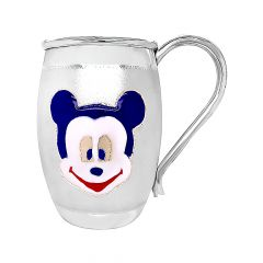 Mickey Mouse Enamel Infant Silver Mug